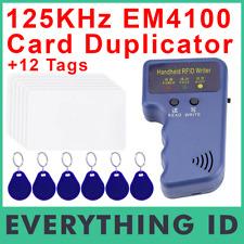 125KHz HANDHELD RFID ID CARD FOB COPIER READER WRITER DUPLICATOR EM4100 TK4100