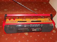 Sharp WQ 268 retro red & yellow boombox tape player recorder