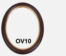 Picture Frame - Oval Cherry with Gold Lip 11x14/11 x 14