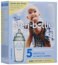 Steri-Bottle 5 PACK Baby Bottle Teats Feeding Supplies BN