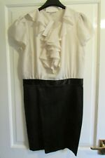 RED HERRING DRESS SIZE 12 BLACK & CREAM NEW WITH TAGS