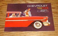 1958 Chevrolet Station Wagon Sales Brochure 58 Chevy Brookwood Yeoman