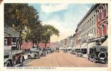 Plattsburg New York Margaret Street Scene Antique Postcard K84699