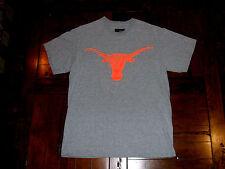 University of Texas Longhorns Gray T-Shirt Neon Orange Logo Majestic Medium