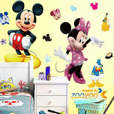 Mickey Mouse Minnie Mural Wall Sticker Decals for Kid Child Room Vinyl