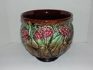 Weller Pottery Majolica Jardiniere Planter - Chrysanthemum Pattern [Great Cond.]