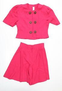 Preworn Womens Pink   Shorts Suit Suit Set Size 14