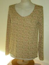 ANDROMEDE top jersey floral moutarde T 42