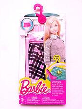 Ropa De Barbie Negro/Rosa Falda a cuadros Barbie Mattel. nuevo en el paquete de accesorios
