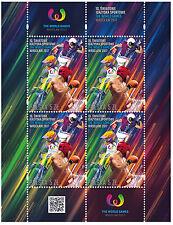 Mini Sheet The World Games Wrocław 2017 sport stamps SPEEDWAY AMERICAN FOOTBALL