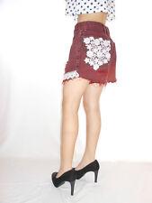 Womens WRANGLER Distress Hot Pants Shorts Cut Hand Custom High Waist W30 AG26