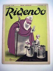 "Dec.5,1936 ""Ridendo"" French Medical Magazine w/ Saint Nicolas"