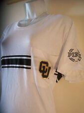 Victoria's Secret Pink University of Colorado CU Buffaloes Pocket Shirt (Large)