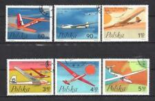 Avions Pologne (54) série complète de 6 timbres oblitérés