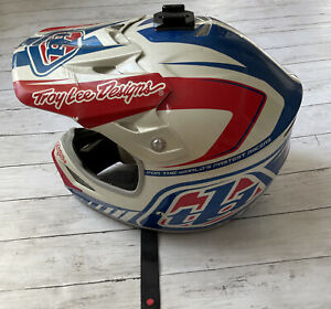 Troy Lee Designs Air Off Road Dirt Helmet Charge Blue White Adult S FMVSS 218
