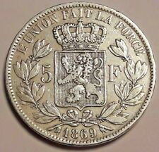 ===>>> Belgique Léopold II Roi 5 Francs en argent 1869  !!! Superbe !!! <<<===