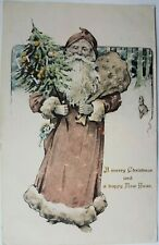 A Merry Christmas and a happy New Year. Postcard.
