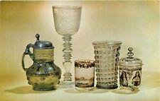 Corning Museum of Glass Corning Center NY New York German Glass Postcard
