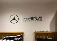 Petronas F1 Mercedes  AMG Wallart Lewis Hamilton 2017 Champion  Bottas Sticker
