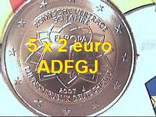 5 x 2 euro 2007 GERMANIA ADFGJ Trattato Roma TOR Allemagne Germany Deutschland