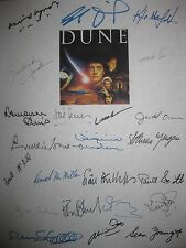Dune Signed Film Script X23 David Lynch Kyle MacLachlan Sting Sean Young Witt RP