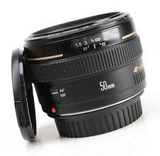 Canon EF 50mm F1.4 only USM Autofocus Prime Lens + Front & Rear Lens Cap