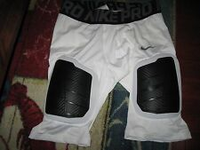 NIKE Pro Combat Men's Football Girdle with Pads, Size XL, Polyester