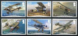 BIOT Military Stamps 2017 MNH WWI WW1 Aircraft British Service Aviation 6v Set