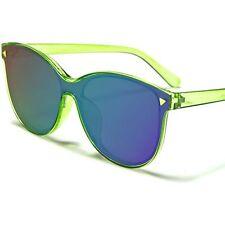Fashion Elegant Foxy Chic Designer Green Mirrored Flat Lens Cat Eye Sunglasses