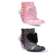 Irregular Choice Bee Delicious Women's Pink Sweet Shop High Heel Ankle BOOTS UK 7 (eu Size 40)