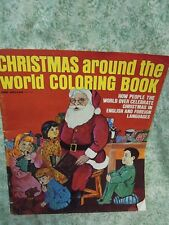 """LC-757  Coloring Book:  """"CHRISTMAS around the world""""  1972,"""