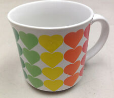 Recycled Paper Hearts Rainbows Red Orange Yellow Green Blue Purple Coffee Mug