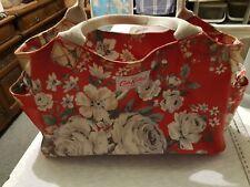 Cath Kidston Hampstead Rose Red Matt Oil Cloth Day Bag