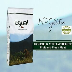 GLUTEN FREE EGUAL HORSE & STRAWBERRY SENZA GLUTINE 75% DI PROTEINE ANIMALI 15Kg