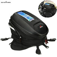 Motorcycle Tail Bag Rear Seat Fuel Tank Storage Bag Hard Shell Biker Saddlebags