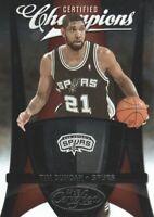 2009-10 Certified Basketball Champions #15 Tim Duncan 350/500 San Antonio Spurs