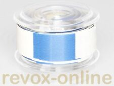 Vorlaufband, white/blue leading tape, blau-weißes Kennband, ca. 5,0m, weiss/blau