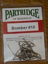 Partridge Bomber #10 Fly Tying Hooks Qty=25