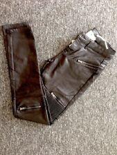 Pantalon aspect cuir noir stretch 36 petit 38
