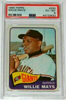 1965 Topps #250 WILLIE MAYS - Giants - HOF - PSA 6 - EX-MT - 44733633 - (SCA)