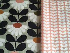 ORLA KIELY Bundle Wild DaIsy & Tiny Stem Blush FQ 50cm Square Each NEW FABRIC