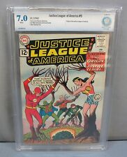 JUSTICE LEAGUE OF AMERICA #9 (Origin of JLA) White CBCS 7.0 DC Comics 1962 cgc