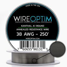 38 Gauge Awg Kanthal A1 Wire 250 Length Ka1 Wire 38g Ga 010 Mm 250 Ft