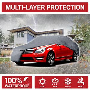 Motor Trend Indoor Outdoor Full Car Cover Waterproof Heat Rain Dust Resistant
