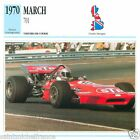 MARCH 701 1970 VOITURE CAR GREAT BRITAIN GRANDE BRETAGNE CARTE CARD FICHE