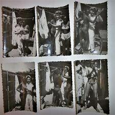 ANCIENNE PHOTO DE NU / EROTIQUE /  ARGENTIQUE / NOIR ET BLANC / VERS 1950 / 60