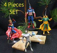 Advengers Christmas Tree Ornaments 4 piece set Disney Marvel Avengers 2