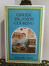 VG Greek Islands Seasonal Traditional Cooking of Greece Cookbook Theonie Mark