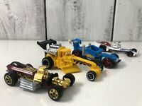 Lot 4 MOTOR Drag Racing Race Cars Mattel Hot Wheels Die Cast Toy Car Mattel Kids