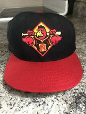 Rochester Red Wings Wool Fitted Hat Vintage New Era 7 3/8